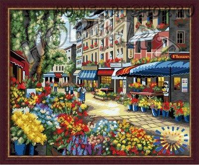 """Картина по номерам """"Цветущий рынок"""""""