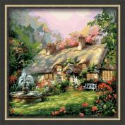 """Картина по номерам """"Фонтан у дома"""" 60х60"""