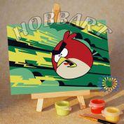 "Картина по номерам ""Angry Birds. Red bird. Молниеносная"""