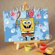 """Картина по номерам """"Sponge Bob. Губка Боб. Охота на удачу"""""""