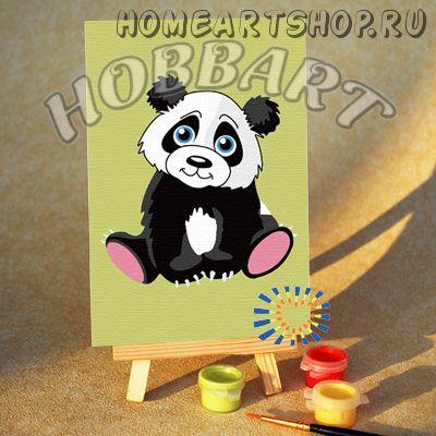 """Картина по номерам """"Мишутка панда"""""""