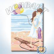 "Картина по номерам ""Поцелуй на пляже"""