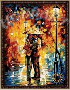 """Картина по номерам """"Любовь под дождем"""""""