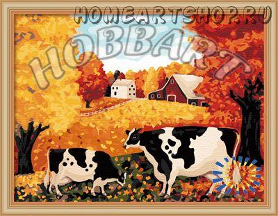 """Картина по номерам """"Lowell Herrero. Коровы"""""""