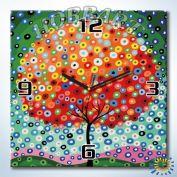 Часы картина по номерам Цветочное облако