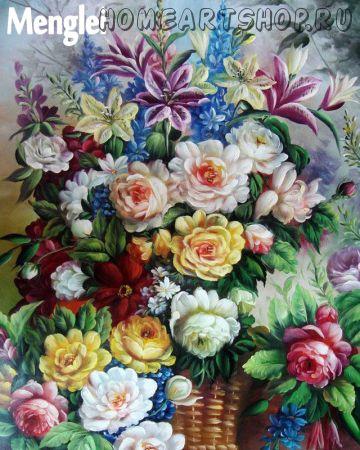 "Раскраска по номерам ""Море цветов"""
