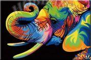 """Картина по номерам """"Ваю Ромдони. Радужный слон"""""""