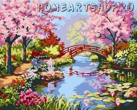 "Раскраска по номерам ""Японский сад"""