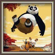 "Картина по номерам ""Кунфу панда"" 30х30"