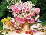 "Картина по номерам ""В розовом цвете"" 50х65"