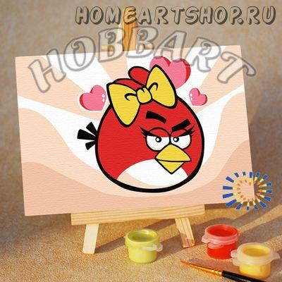 "Картина по номерам ""Angry Birds. Red bird. Кокетка"""