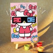 "Картина по номерам ""Hello Kitty. Китти: стереоэффект"""