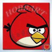 """Картина по номерам """"Angry Birds. Неудержимый красный"""""""