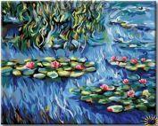 """Раскраска по номерам """"Клод Моне. Водяные лилии"""""""