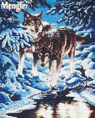 """Раскраска по номерам """"Серые волки"""""""