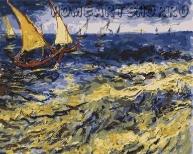 """Раскраска по номерам Ван Гог """"Море в Сент-Мари"""""""